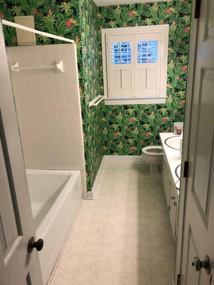 Before a bathroom remodel in Wilson, NC from Richie Ballance Flooring & Tile