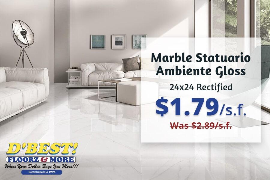 Marble Statuario Ambiente