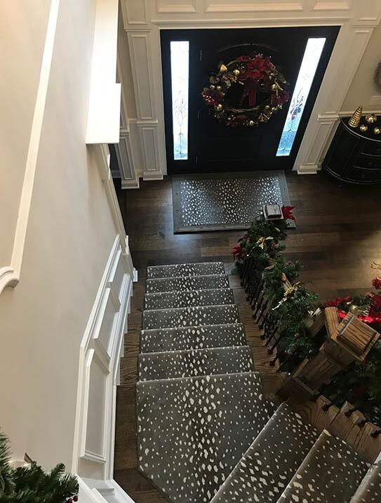 """Gabriel"" Custom stair runner in Paramus, NJ from G. Fried Flooring & Design"