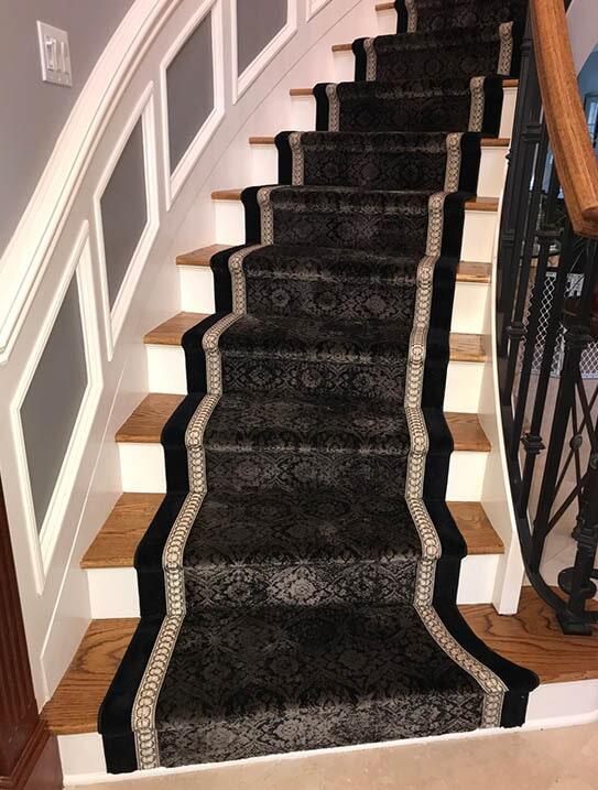 """""""Ingrassia"""" Custom stair runner in Franklin Lake, NJ from G. Fried Flooring & Design"""