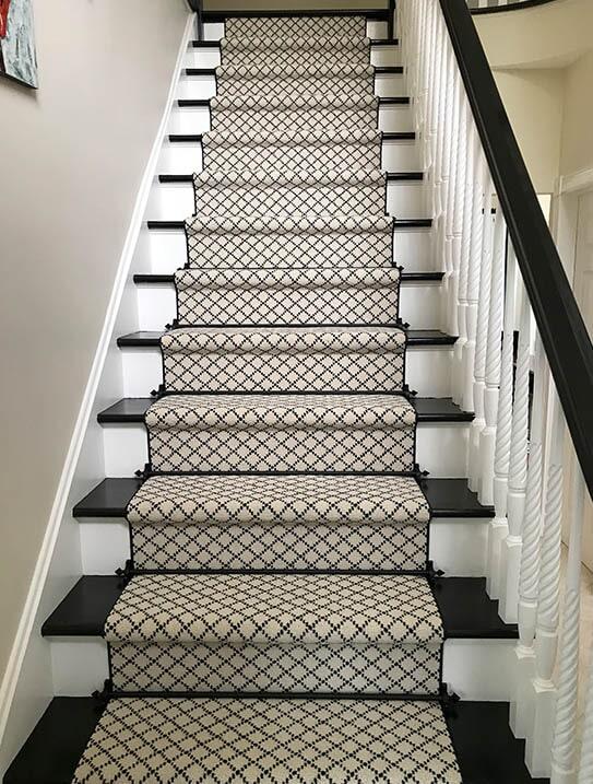 """""""Wyckoff"""" Custom stair runner in Upper Saddle River, NJ from G. Fried Flooring & Design"""