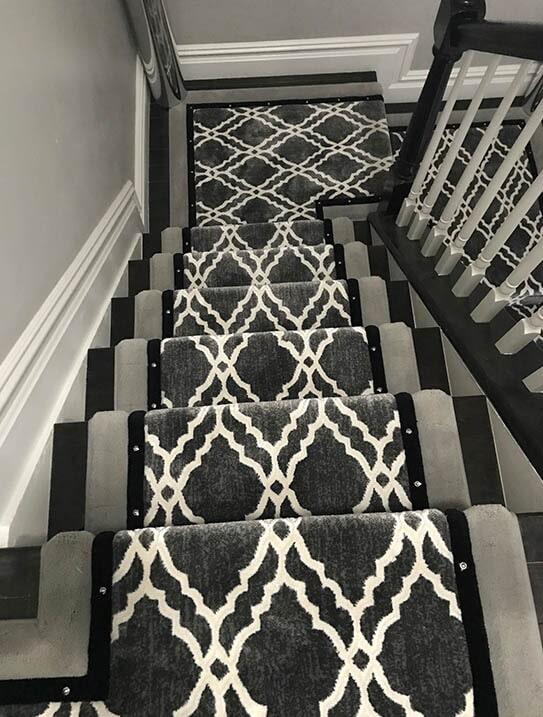 """""""Miller"""" Custom stair runner in [[cms:city7] from G. Fried Flooring & Design"""