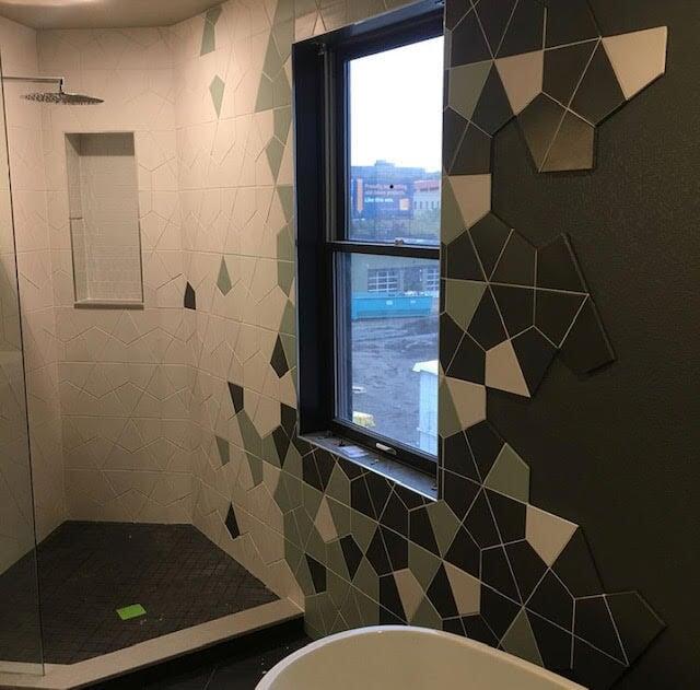 Custom tile design in Greeley, CO from JT Flooring