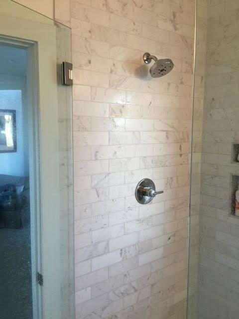 Tile shower installation in Evans, CO from JT Flooring