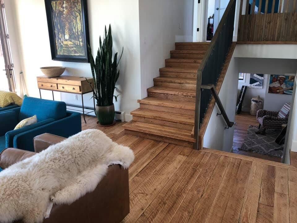 Split level flooring installation in Frederick, CO from JT Flooring