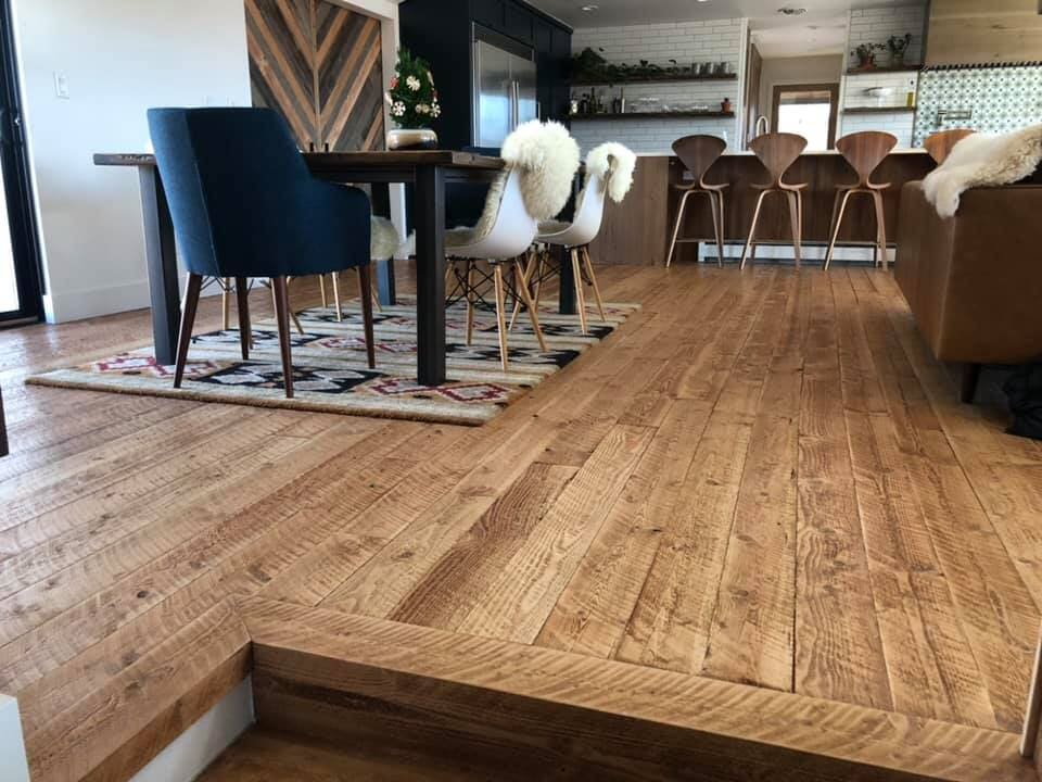 Distressed wood floors in Longmont, CO from JT Flooring