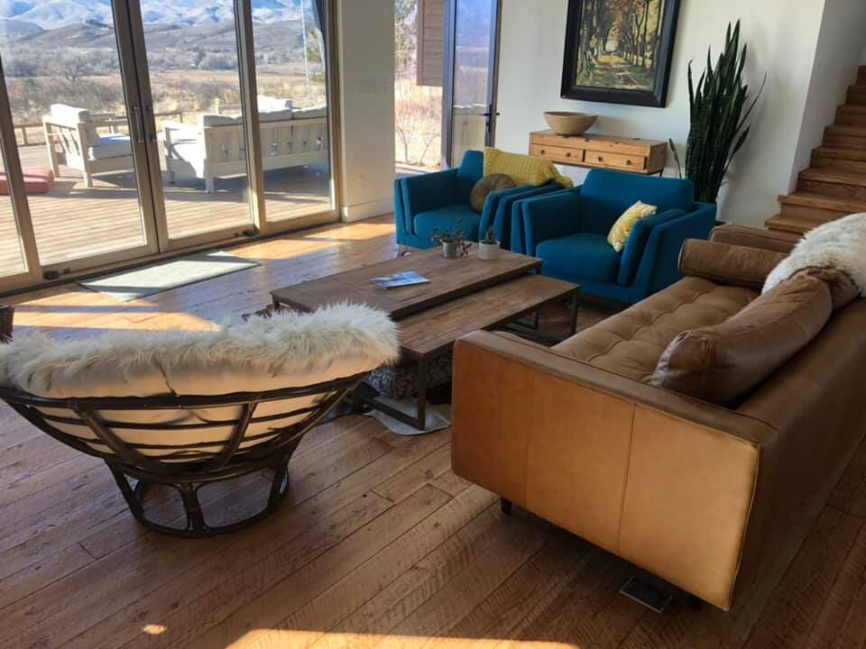 Living room flooring in Longmont, CO from JT Flooring