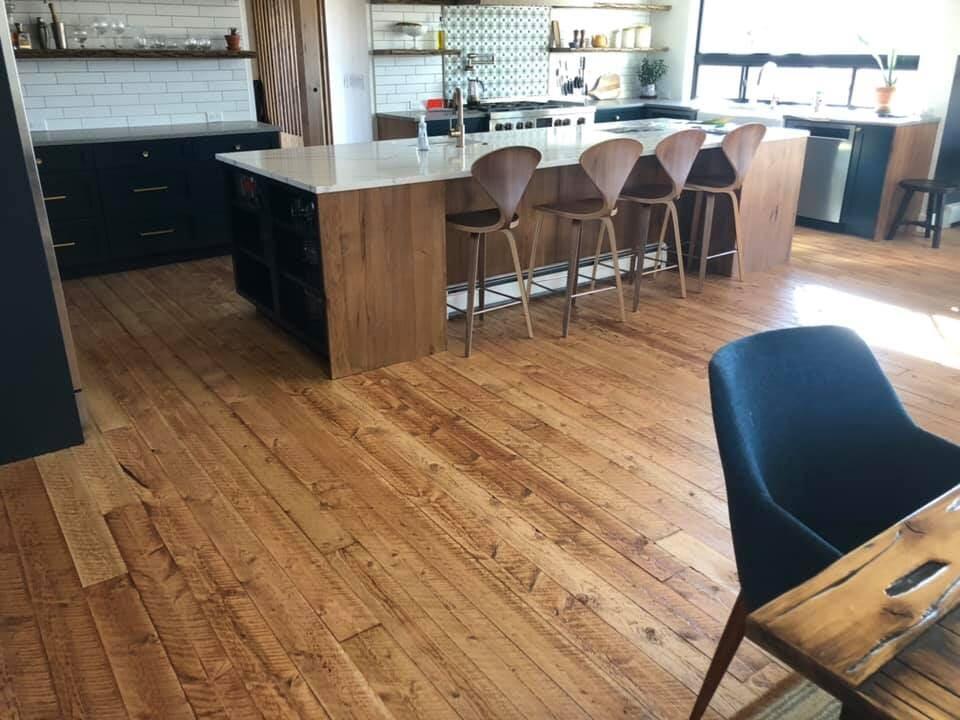 Kitchen wood flooring in Longmont, CO from JT Flooring