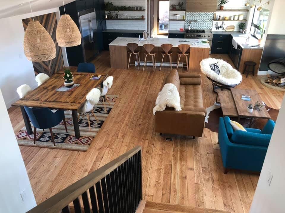Rustic flooring design in Longmont, CO from JT Flooring