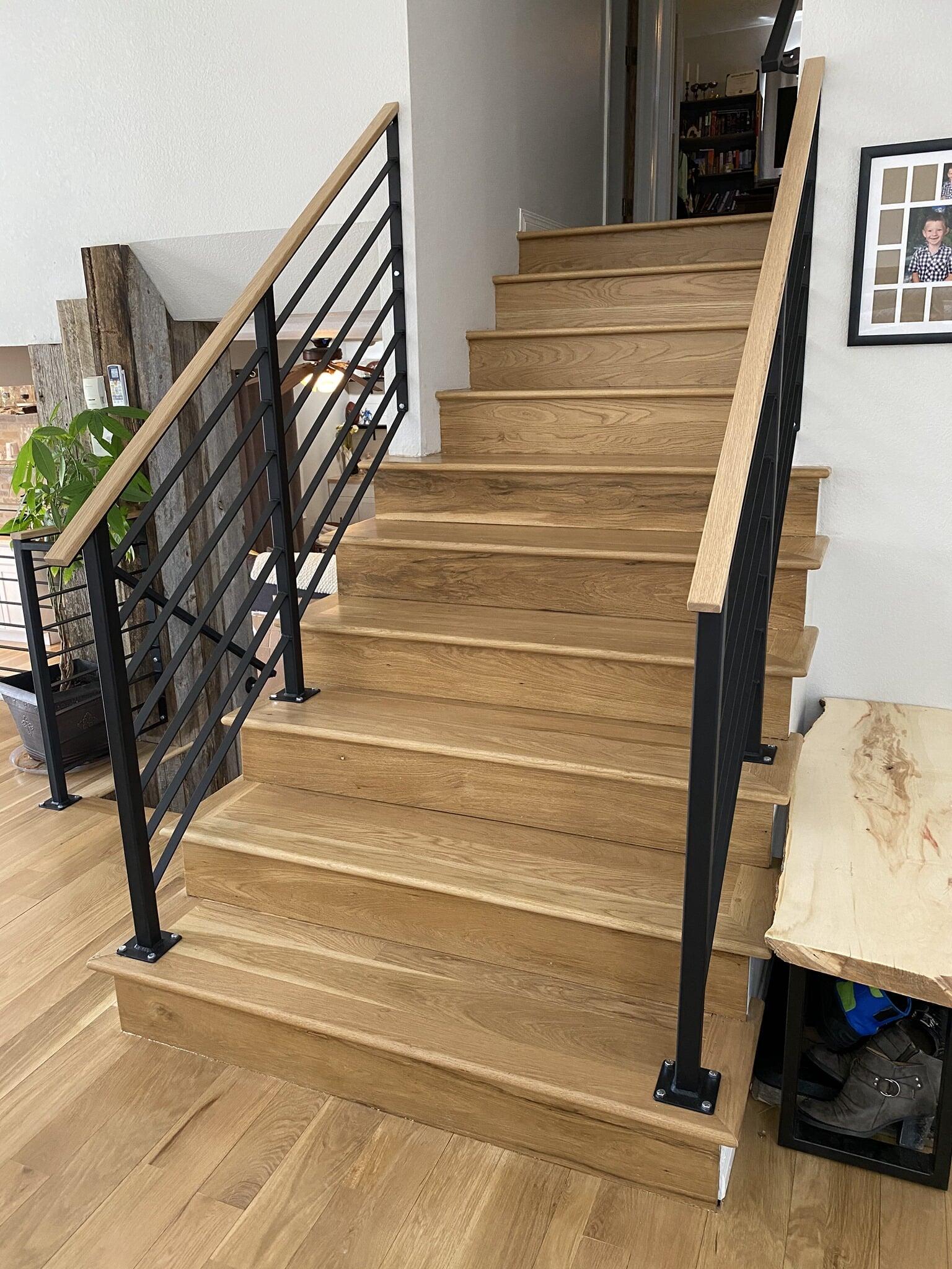 Stairway flooring installation in Timnath, CO from JT Flooring