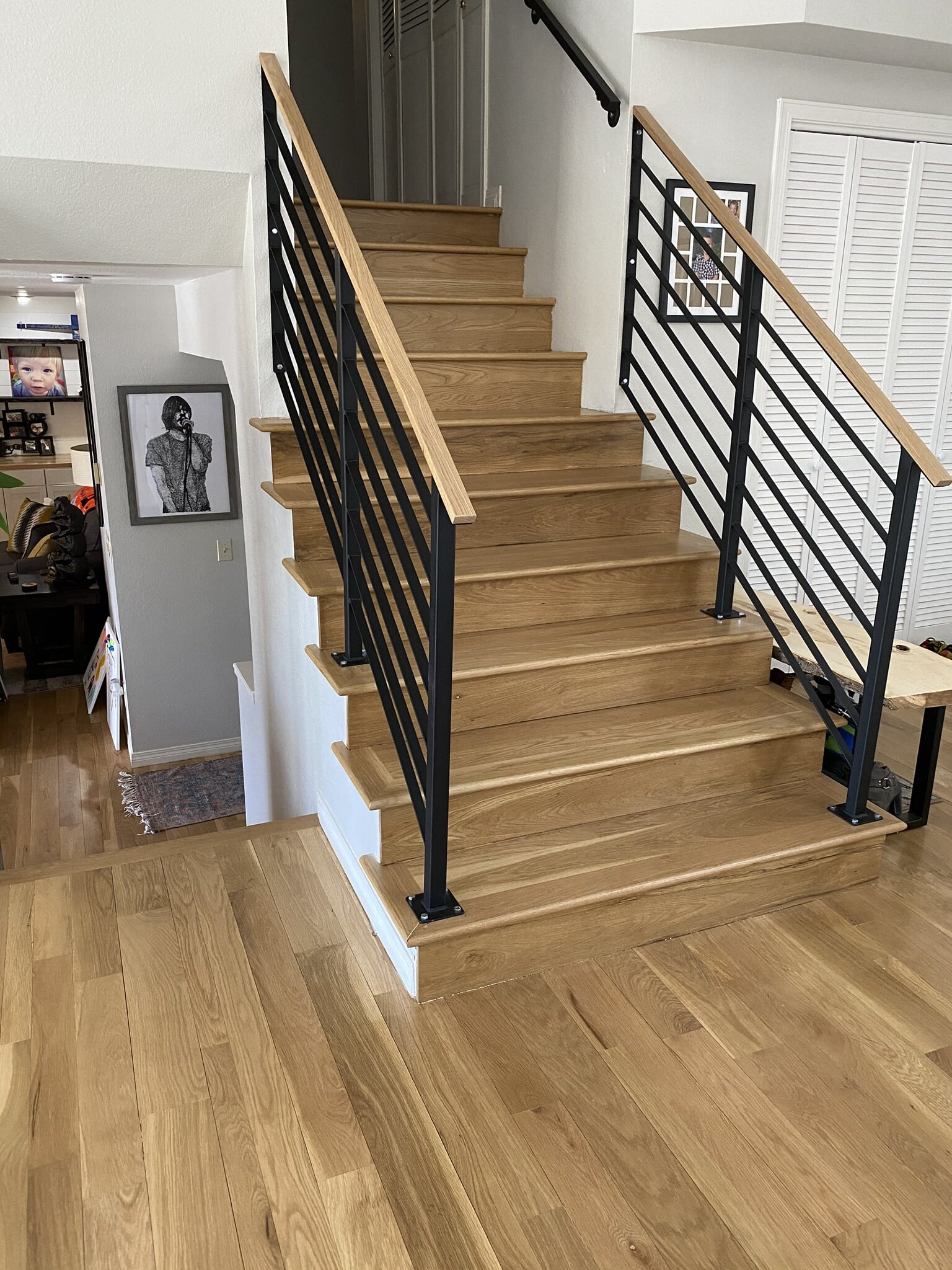 Vinyl plank stairs in Timnath, CO from JT Flooring