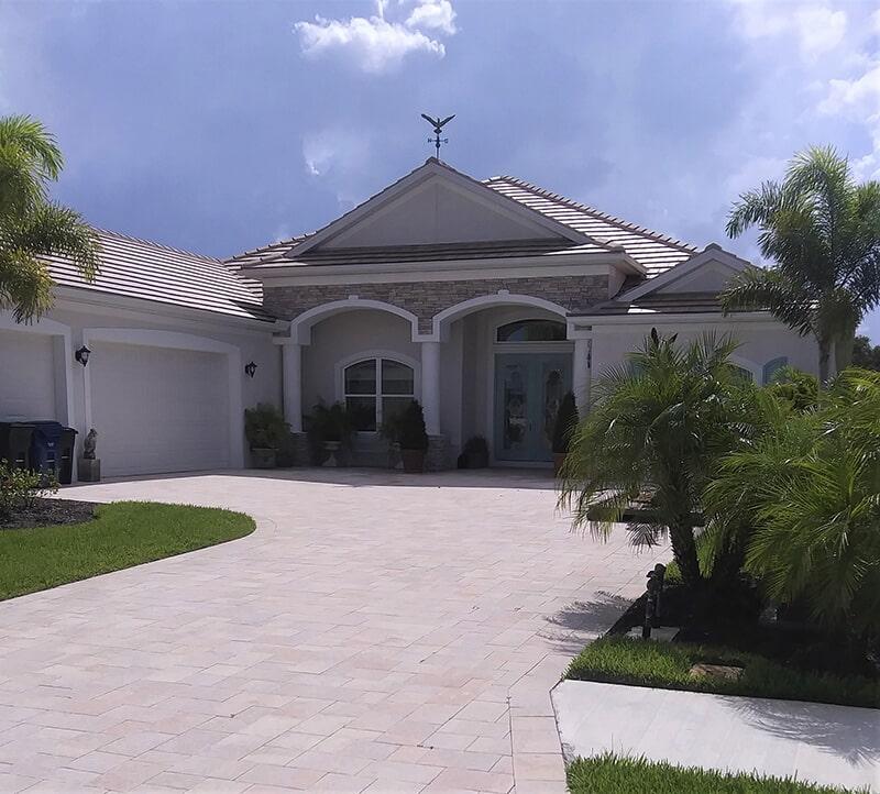 Rustic driveway in Bradenton, FL from Manasota Flooring