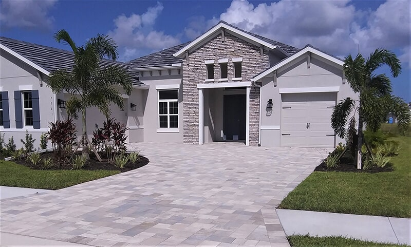 Beautiful driveway in Venice, FL from Manasota Flooring