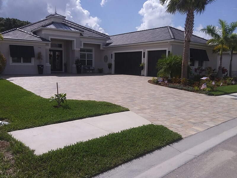 Custom brick driveway in Venice, FL from Manasota Flooring