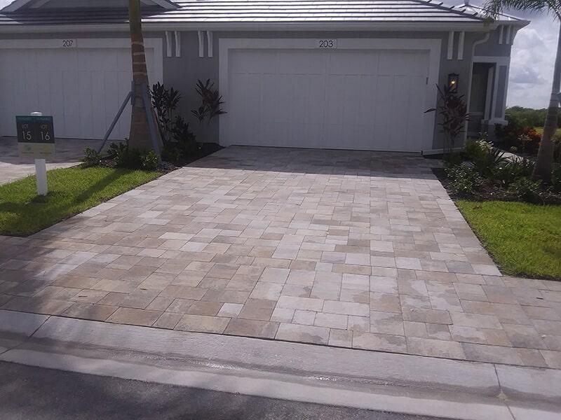 Brick driveway in Sarasota, FL from Manasota Flooring