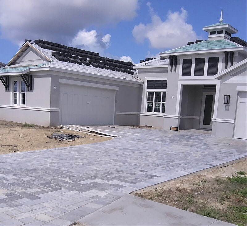 New construction driveway in Sarasota, FL from Manasota Flooring