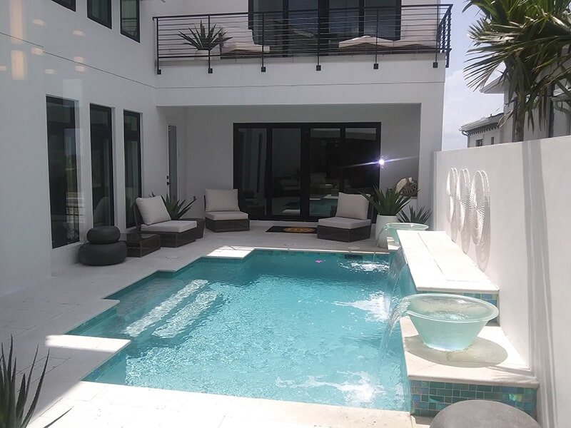White brick pavers in Venice, FL from Manasota Flooring