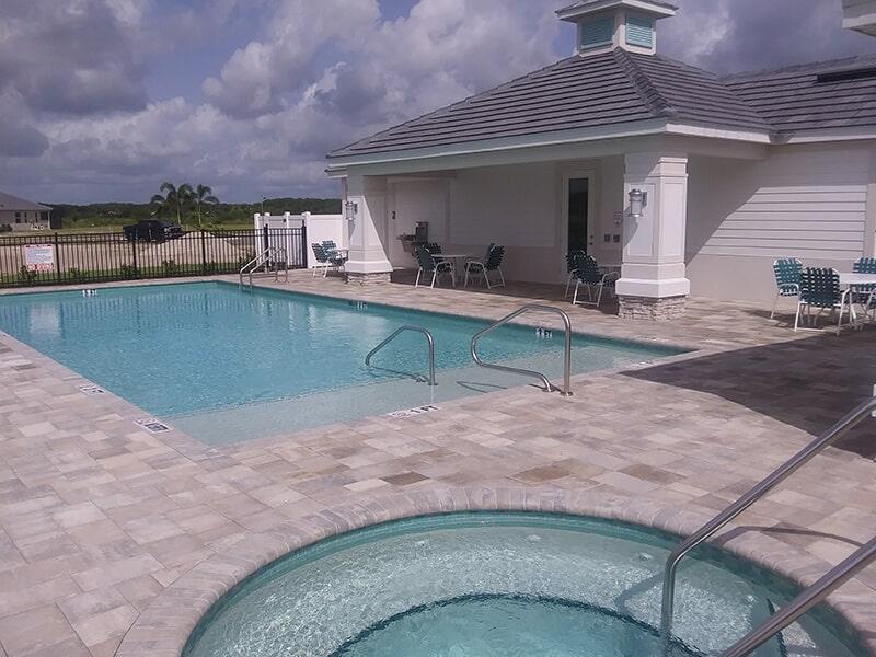 Brick paver deck in Sarasota, FL from Manasota Flooring