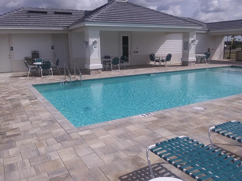 Community pool deck in Venice, FL from Manasota Flooring