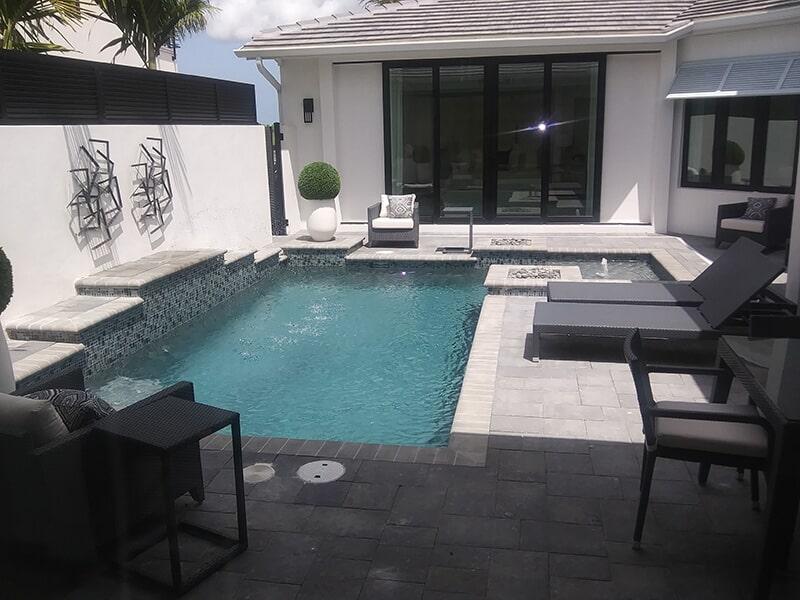 Pool deck installation in Bradenton, FL from Manasota Flooring
