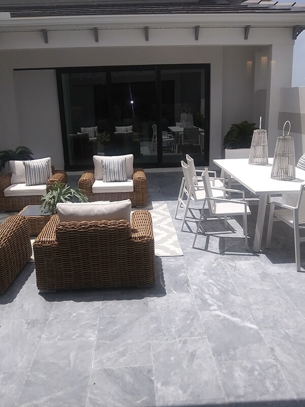 Stone patio in Sarasota, FL from Manasota Flooring