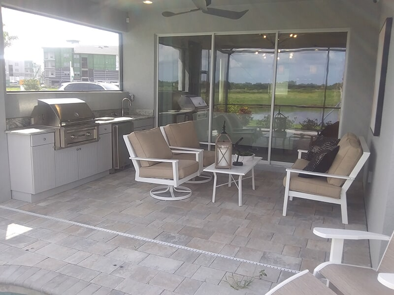 Lanai paver installation in Bradenton, FL from Manasota Flooring