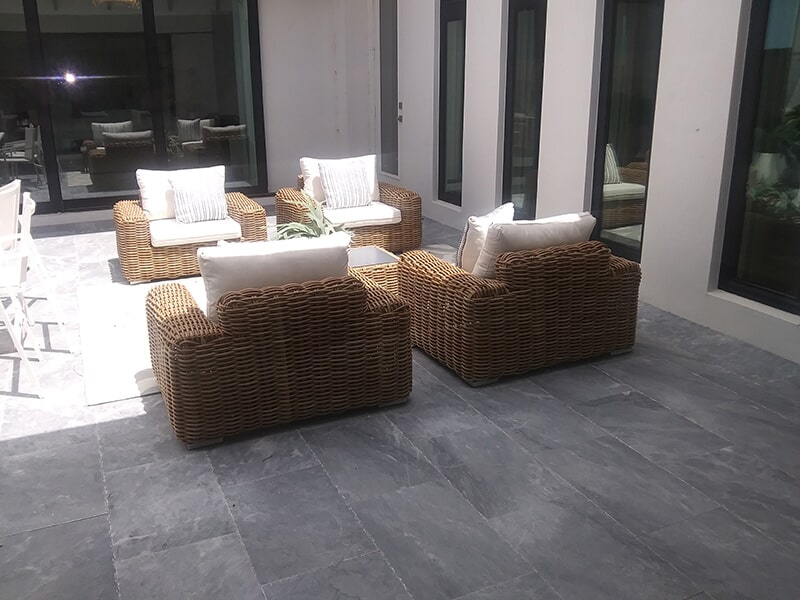 Stone paver installation in Sarasota, FL from Manasota Flooring
