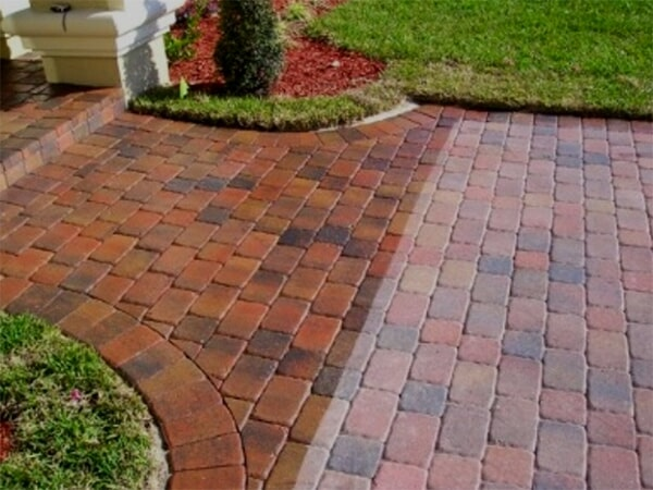 Brick paver cleaning in Venice, FL from Manasota Flooring