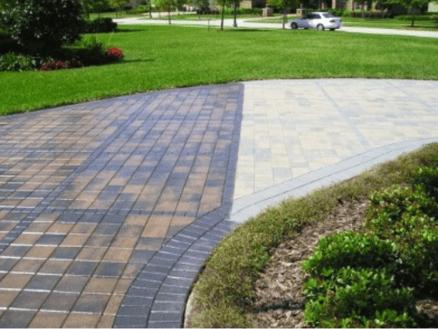 Cleaning brick pavers in Sarasota, FL from Manasota Flooring
