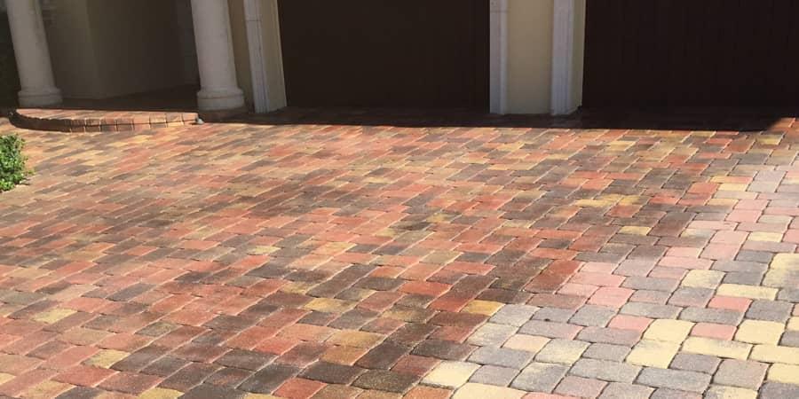 Brick driveway cleaning in Venice, FL from Manasota Flooring