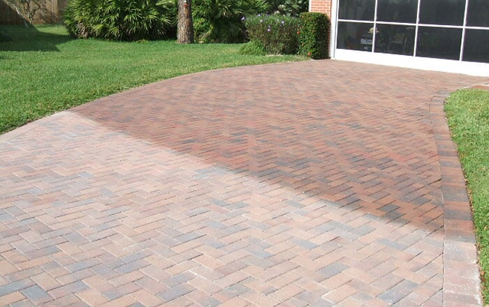 Brick paver clean and seal in Venice, FL from Manasota Flooring