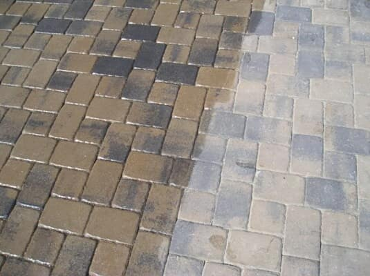 Paver driveway cleaning in Sarasota, FL from Manasota Flooring
