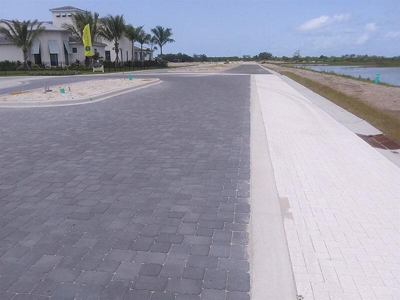 Brick paver roadway in Sarasota, FL from Manasota Flooring