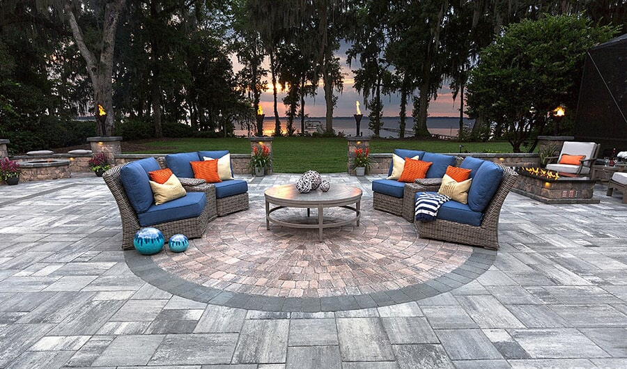 Brick paver patio in Bradenton, FL from Manasota Flooring