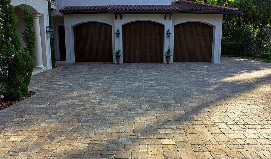 Brick paver driveway in Sarasota, FL from Manasota Flooring