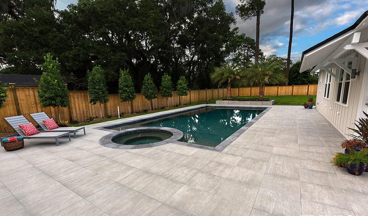 Custom pool patio in Sarasota, FL from Manasota Flooring