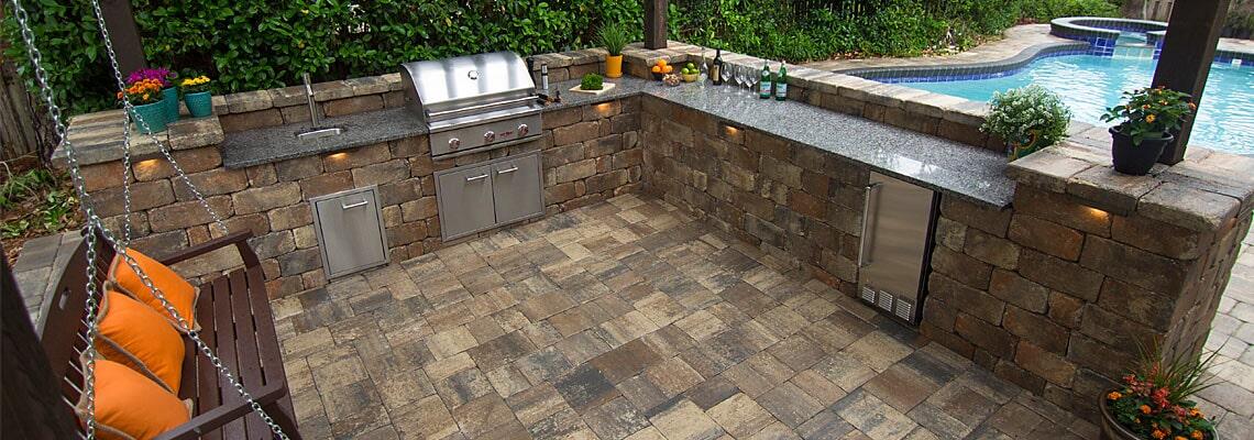Outdoor kitchen in Sarasota, FL from Manasota Flooring