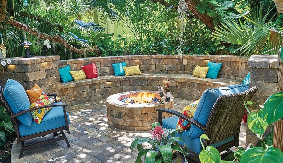 Custom paver seating in Sarasota, FL from Manasota Flooring