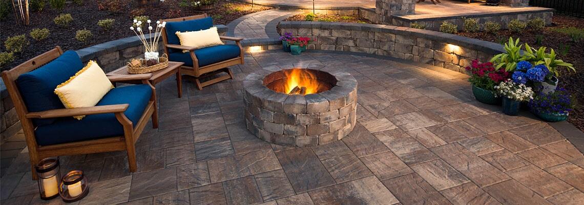 Outdoor firepit area in Bradenton, FL from Manasota Flooring