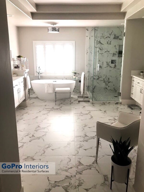 Stone tile in Henderson, NV from GoPro Interiors