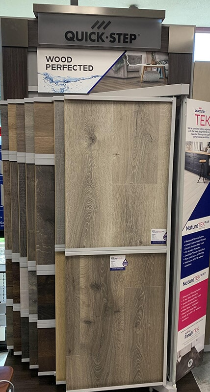 Quick Step flooring available at Perry's Complete Floor on Seaboard Ct. in Upland