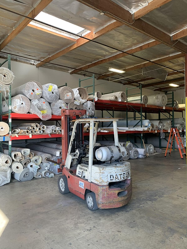 Carpet rolls available at Perry's Complete Floor on Seaboard Ct. in Upland