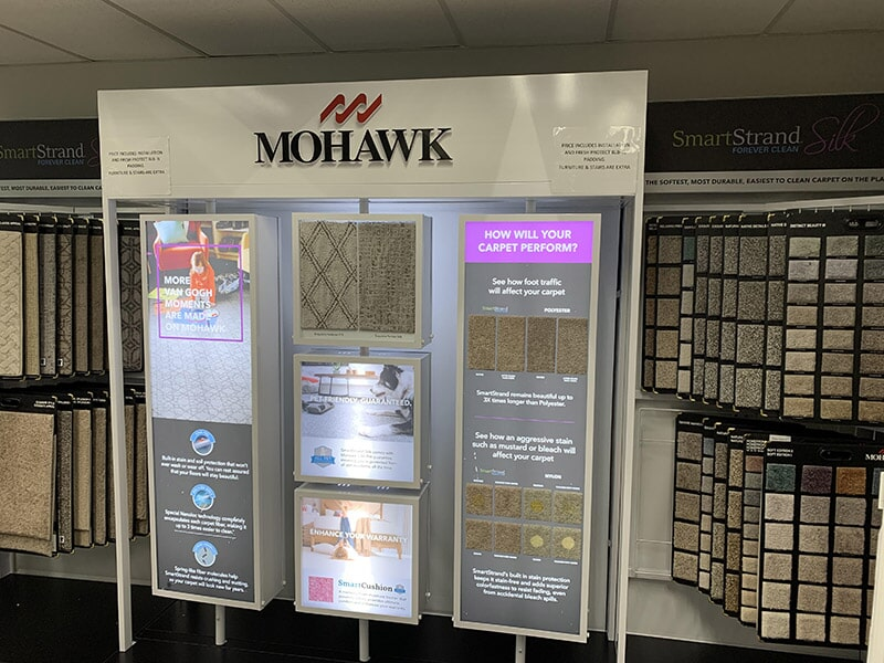 Mohawk carpet available at Perry's Complete Floor on Mountain Ave. in Upland