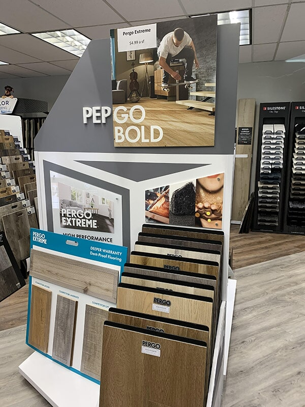 Pergo flooring available at Perry's Complete Floor on Mountain Ave. in Upland