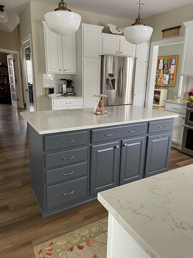 Kitchen remodel cabinets in Verona, WI from Majestic Floors and More LLC - After4