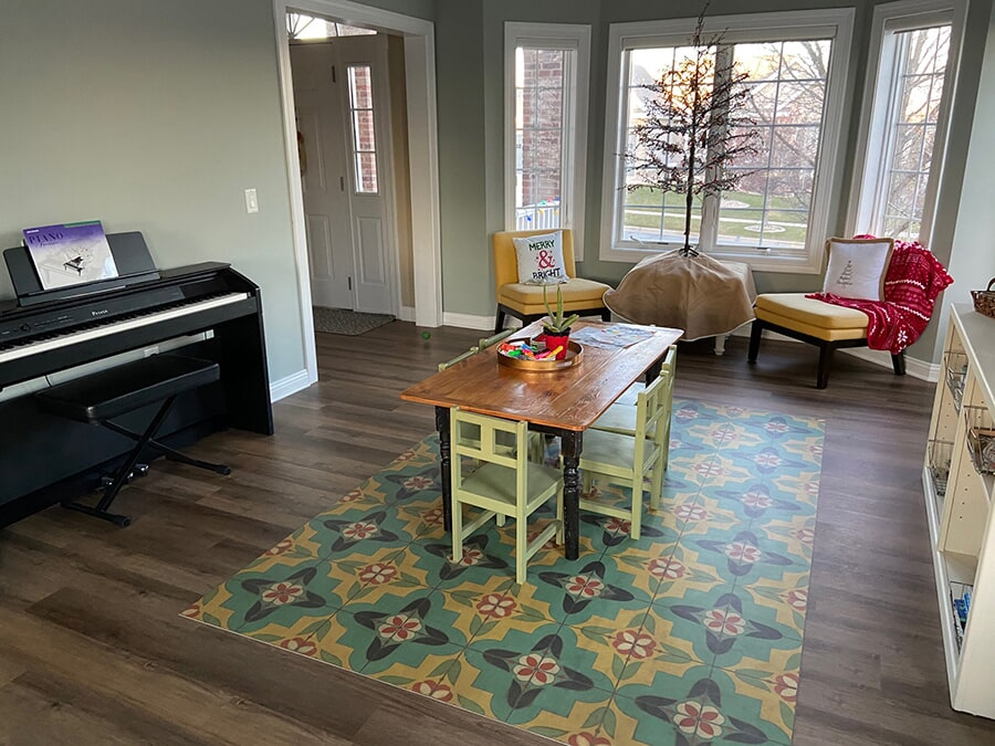 Living Room hardwood flooring in Madison, WI from Majestic Floors and More LLC- After