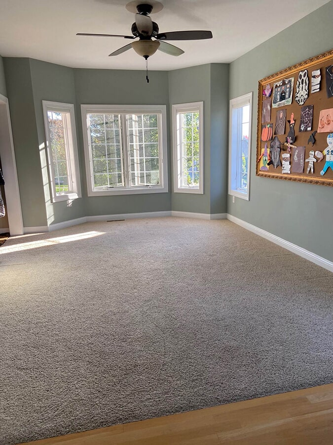 Living Room, carpet flooring in Waunakee, WI from Majestic Floors and More LLC- Before