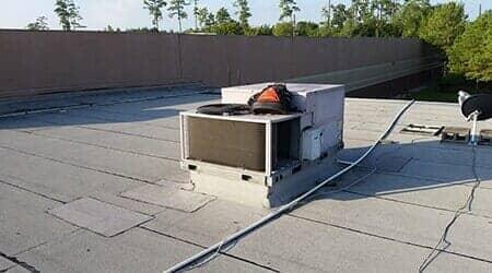 exterior air conditioner unit