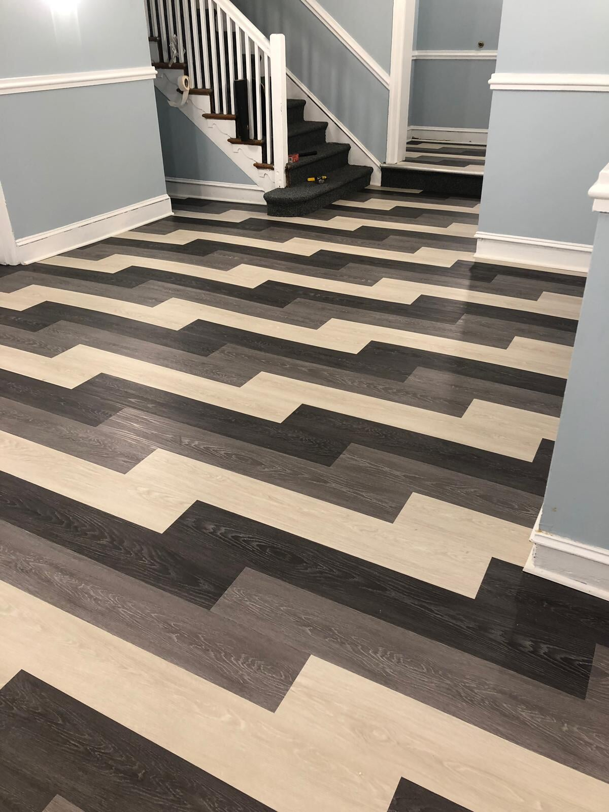 Multi-color flooring in North Philadelphia, PA from Philadelphia Flooring Solutions