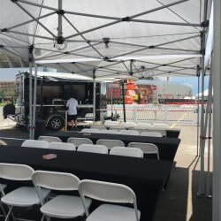 setup being done for an event